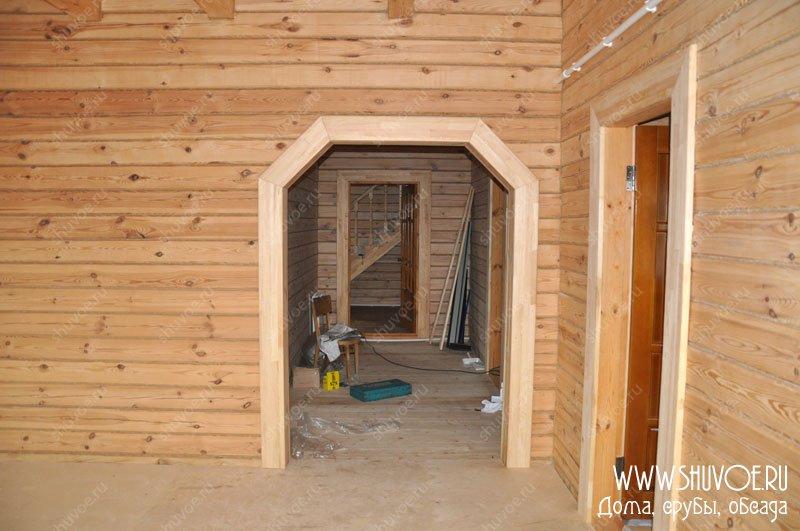 Деревянный дверной проем своими руками 8