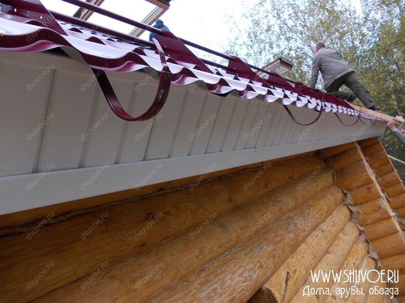 Железный водосток на крышу своими руками