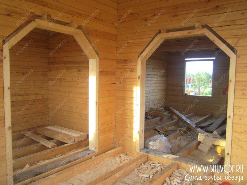 Как сделать дверной проём в деревянном доме 627