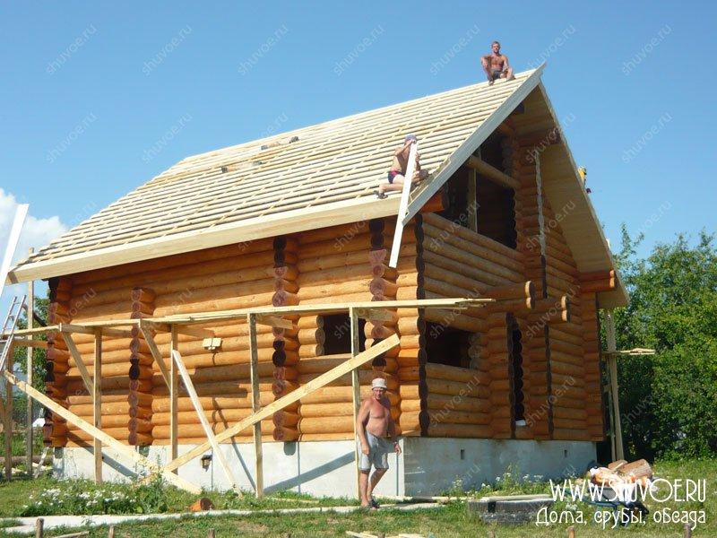 устройсто крыши рубленного дома