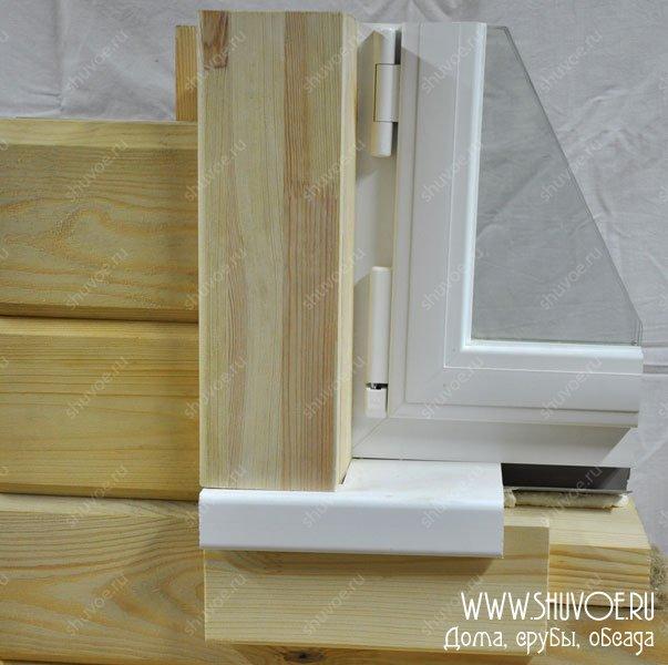 Деревянный подоконник своими руками в деревянном доме 32