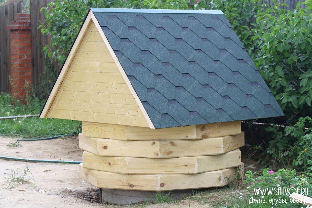 Фото крыша на колодец