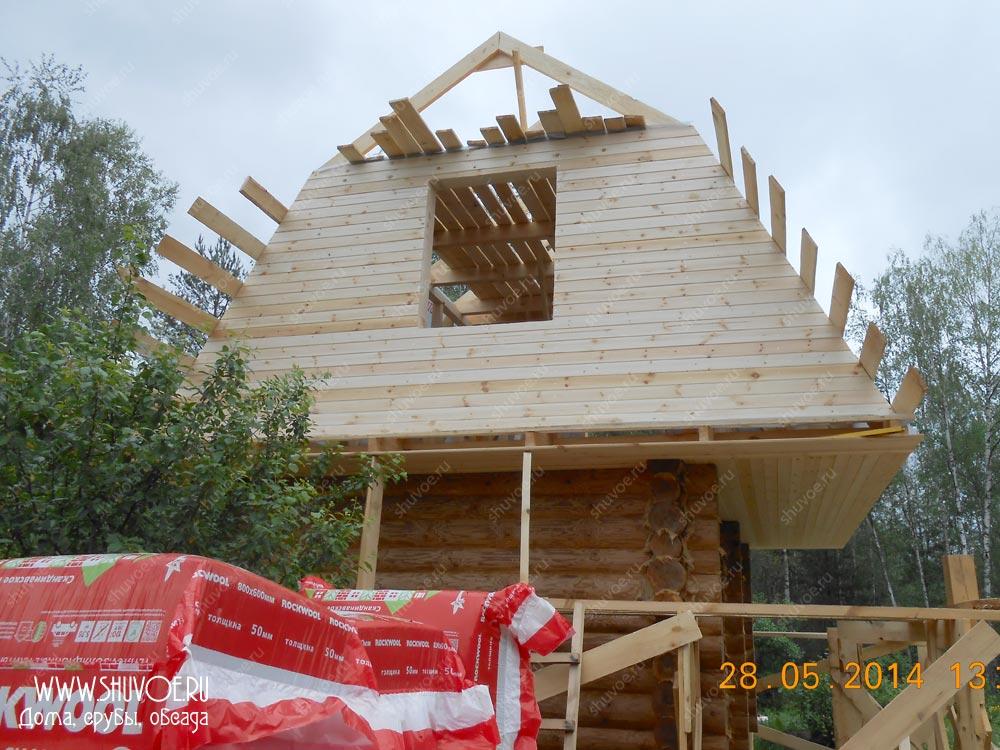 Мансардная крыша на сруб