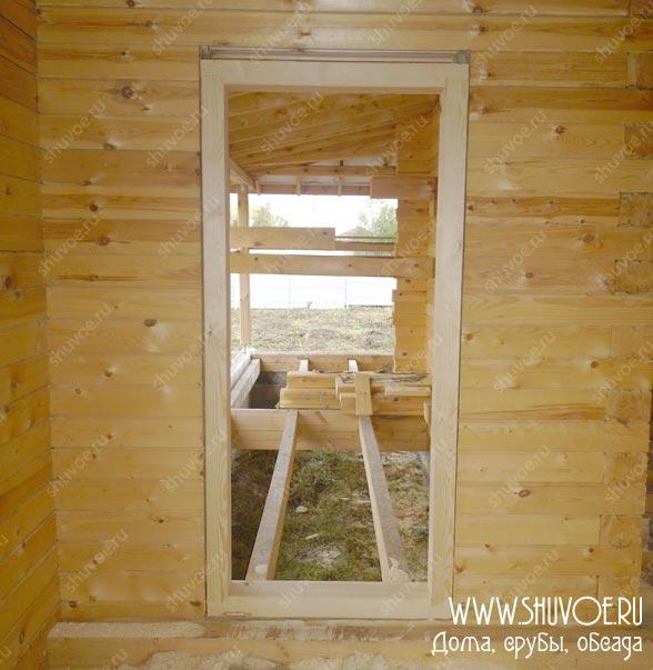 Установка пластиковых окон в доме из бруса: схема …
