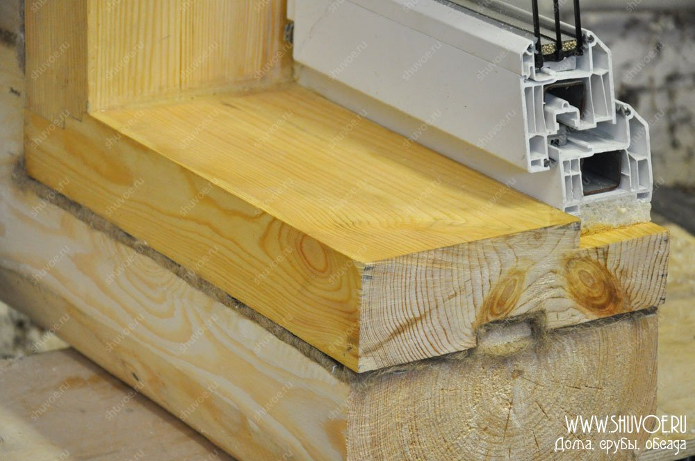 Окосячка для пластиковых окон в деревянном доме  533