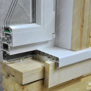 Окосячка под отделку проемов ПВХ панелями и ПВХ подоконником