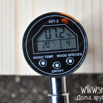 Контроль влажности ручным влагомером- 7,2%.