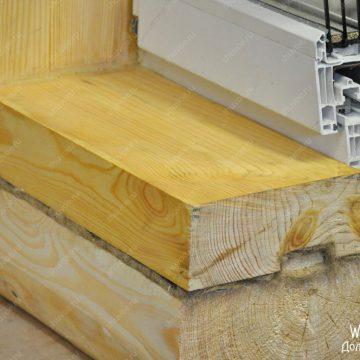 Окосячка с деревянным подоконником
