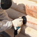 Шлифовка деревянных домов